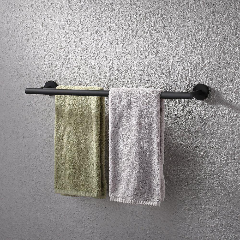 (Double Towel Bar, Brushed) KES 60cm Double Towel Bar Bathroom Shower Organisation Bath Dual Towel Hanger Holder Brushed SUS 304 Stainless Steel Finish, A2001S24-2 B01MQUFURD Double Towel Bar|Brushed Brushed Double Towel Bar
