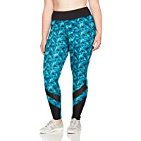 Just My Size Womens OJ907 Active Mesh Pieced Run Legging Shirt