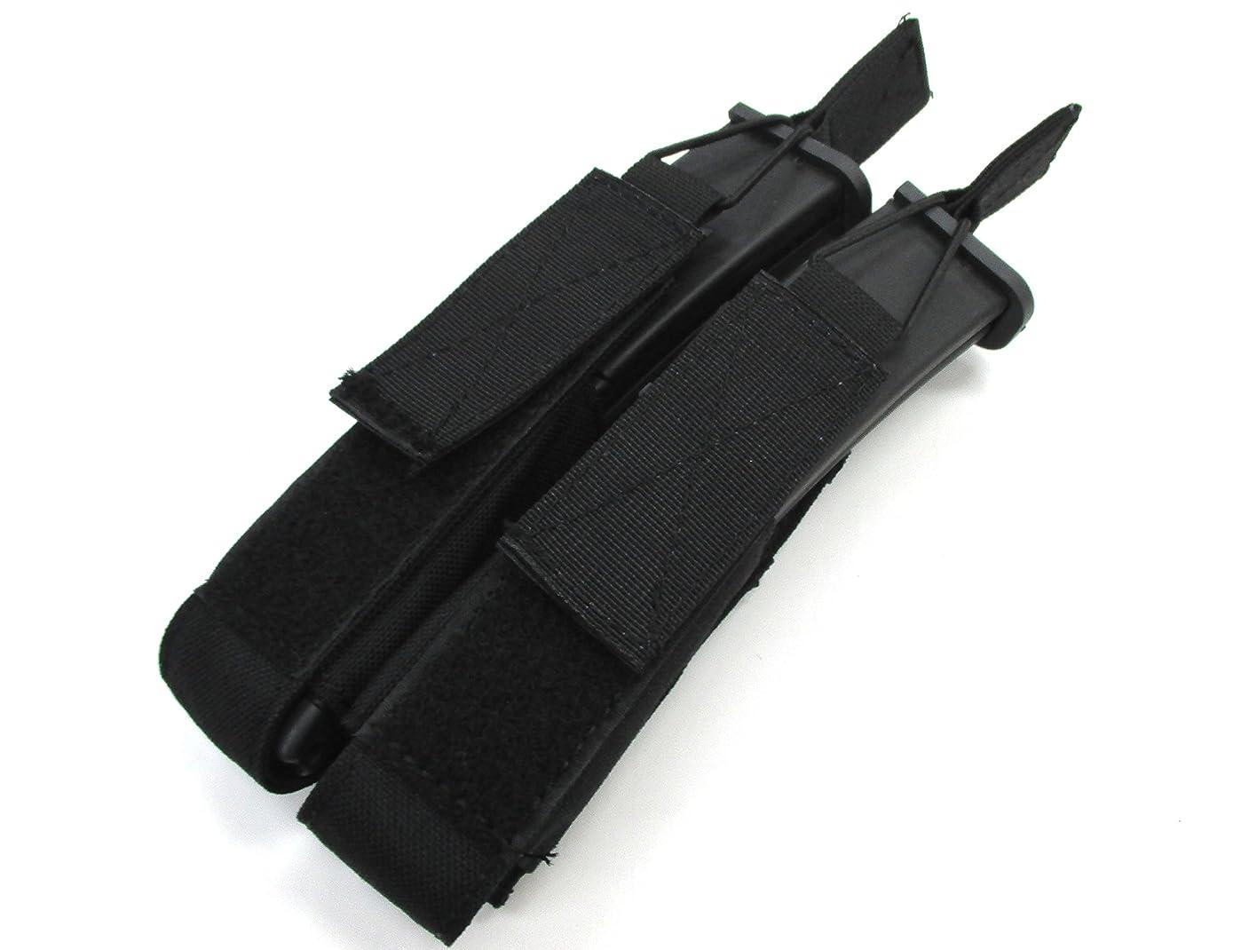 何故なの感じスパンMolleシステム 軍用規格 P90 二連 マガジンポーチ BK