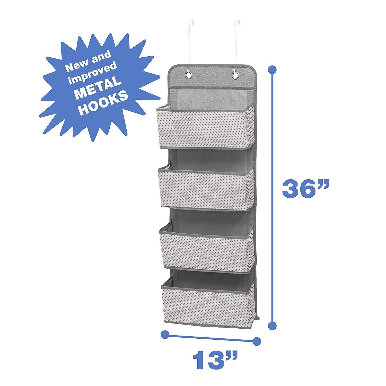 Amazon.com: Organizador de pared con 4 bolsillos en color ...