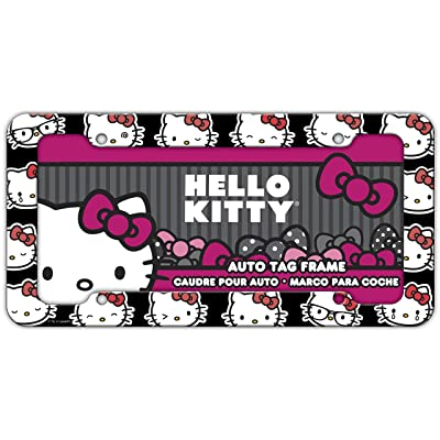 Chroma Graphics 42558 Black/White/Red 12.5x6.25x0.2 Hello Kitty Emoji Heads Plastic Frame: Automotive