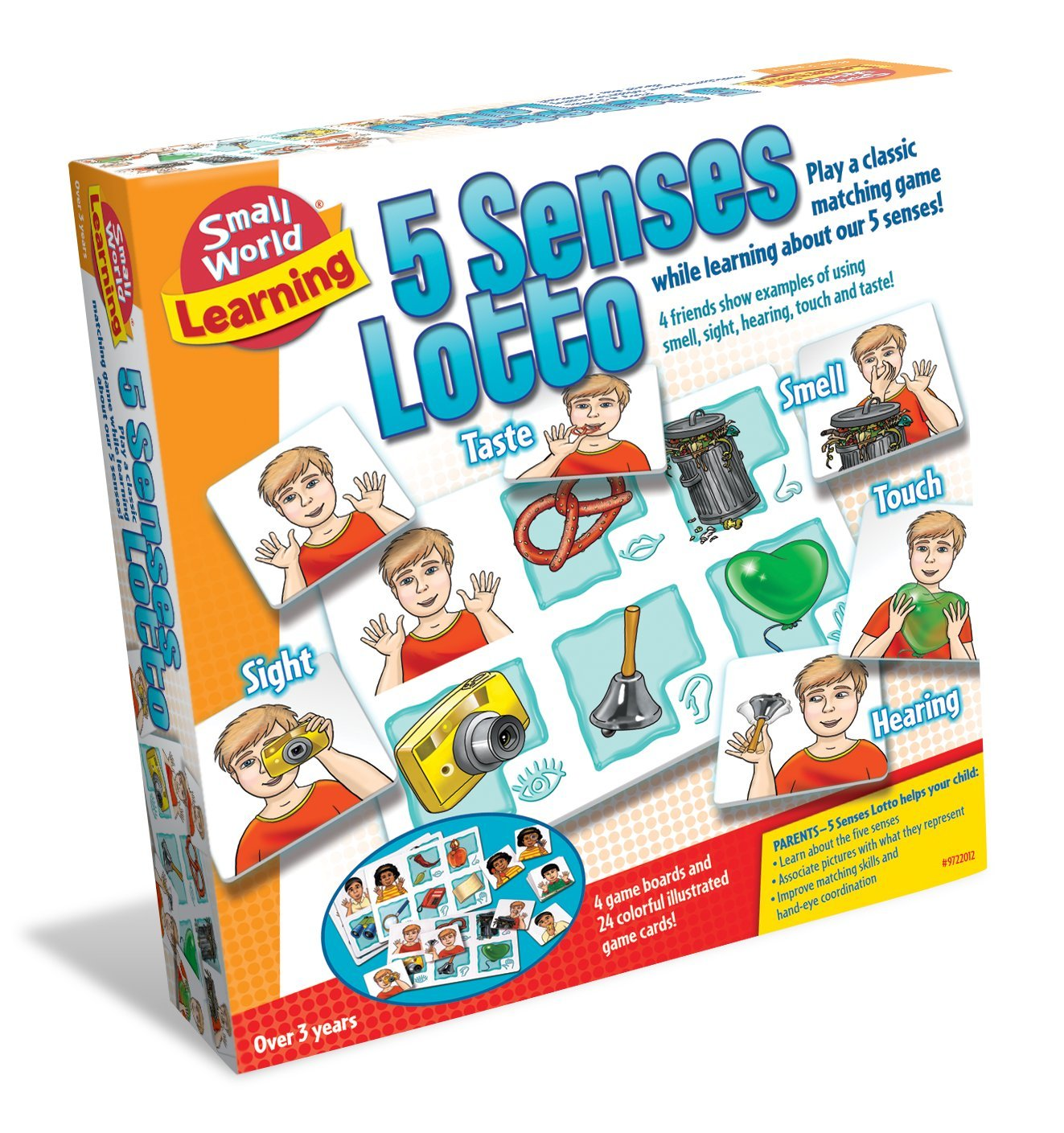 Small World Toys Learning - 5 Senses Lotto Matching Game