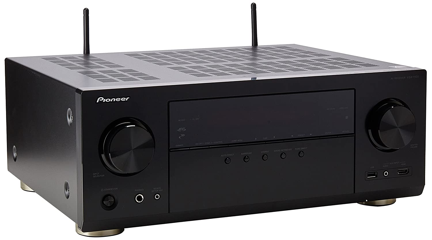 Amazon.com: Pioneer VSX-1131 7.2-Channel AV Receiver with MCACC built-in  Bluetooth and Wi-Fi: Electronics