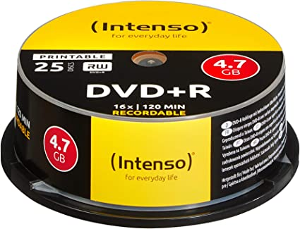 Intenso Dvd R 4 7 Gb 16x Dvd Blank Printable Scratch Computers Accessories