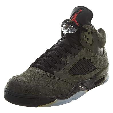 a2acfefb8f2a1 NIKE Air Jordan Air Jordan 5 Retro  Fear  Mens Sneakers in Grey Mens Style