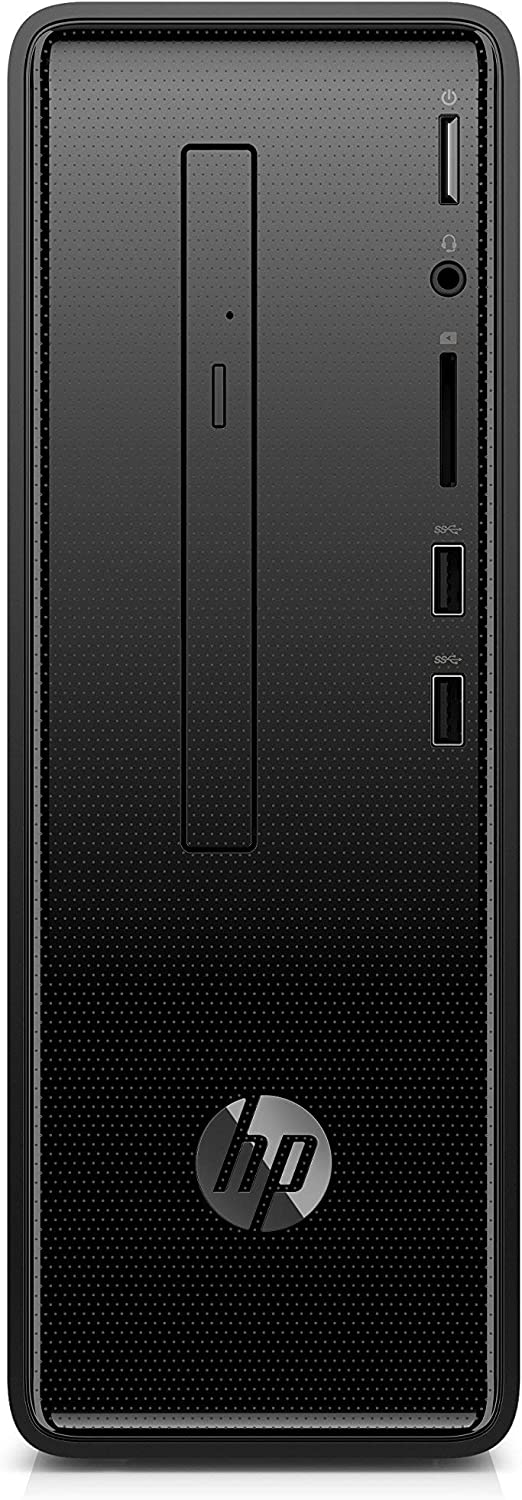 HP Slim Desktop Computer, Intel Pentium Silver J5005, 4GB RAM, 1TB Hard Drive, Windows 10 (290-a0020, Black) (Renewed)