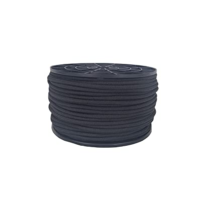 3/16 inch Black Polyester Bungee/Shock Cord - 250 foot Spool | Marine Grade - High UV and Abrasion Resistance
