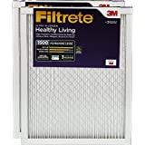 Filtrete Healthy Living Ultra Allergen Reduction AC Furnace Air Filter, Captures Fine Inhalable Particles, Delivers Cleaner Air Throughout Your Home, MPR 1500, 16 x 25 x 1, 2-Pack