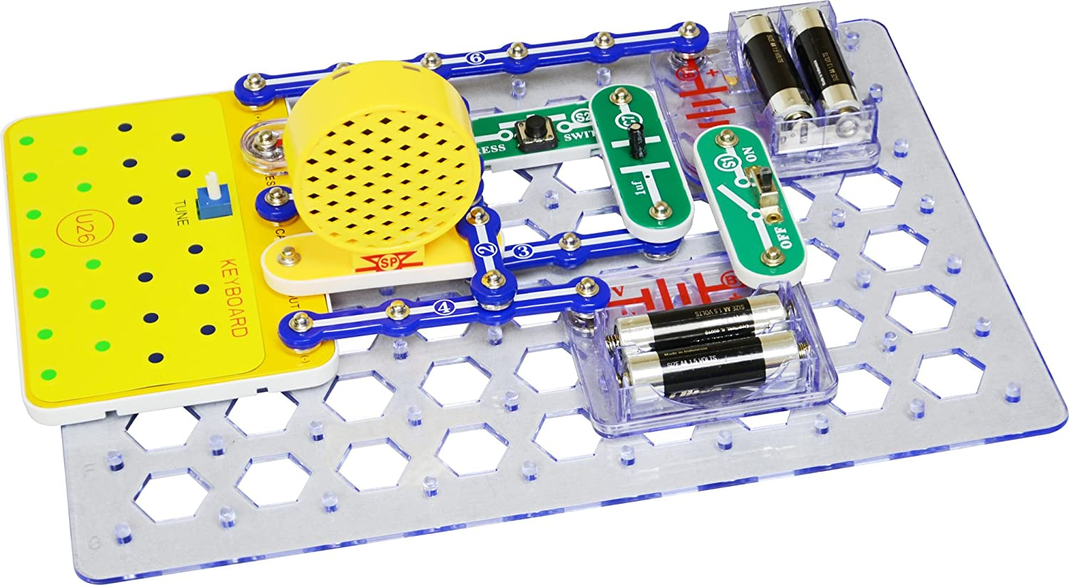 Snap Circuits Sound Electronics Discovery Kit Toys Games Elenco Electrical Project Kid Educational