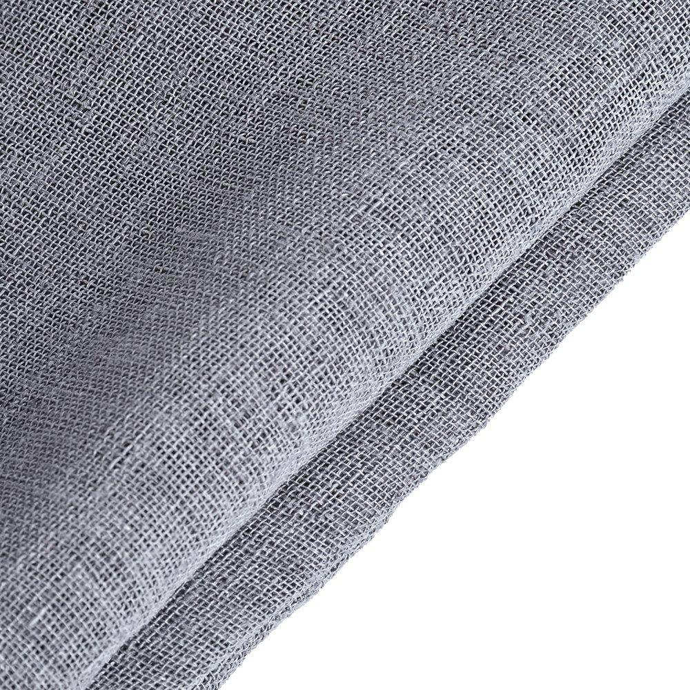 laamei 1 Pc Tul Cortina Transparente Visillos para Ventanas Pura Voile Cortina Corta con Ojales Panel de Ventana Salón Puerta Cortina (135x160cm): ...