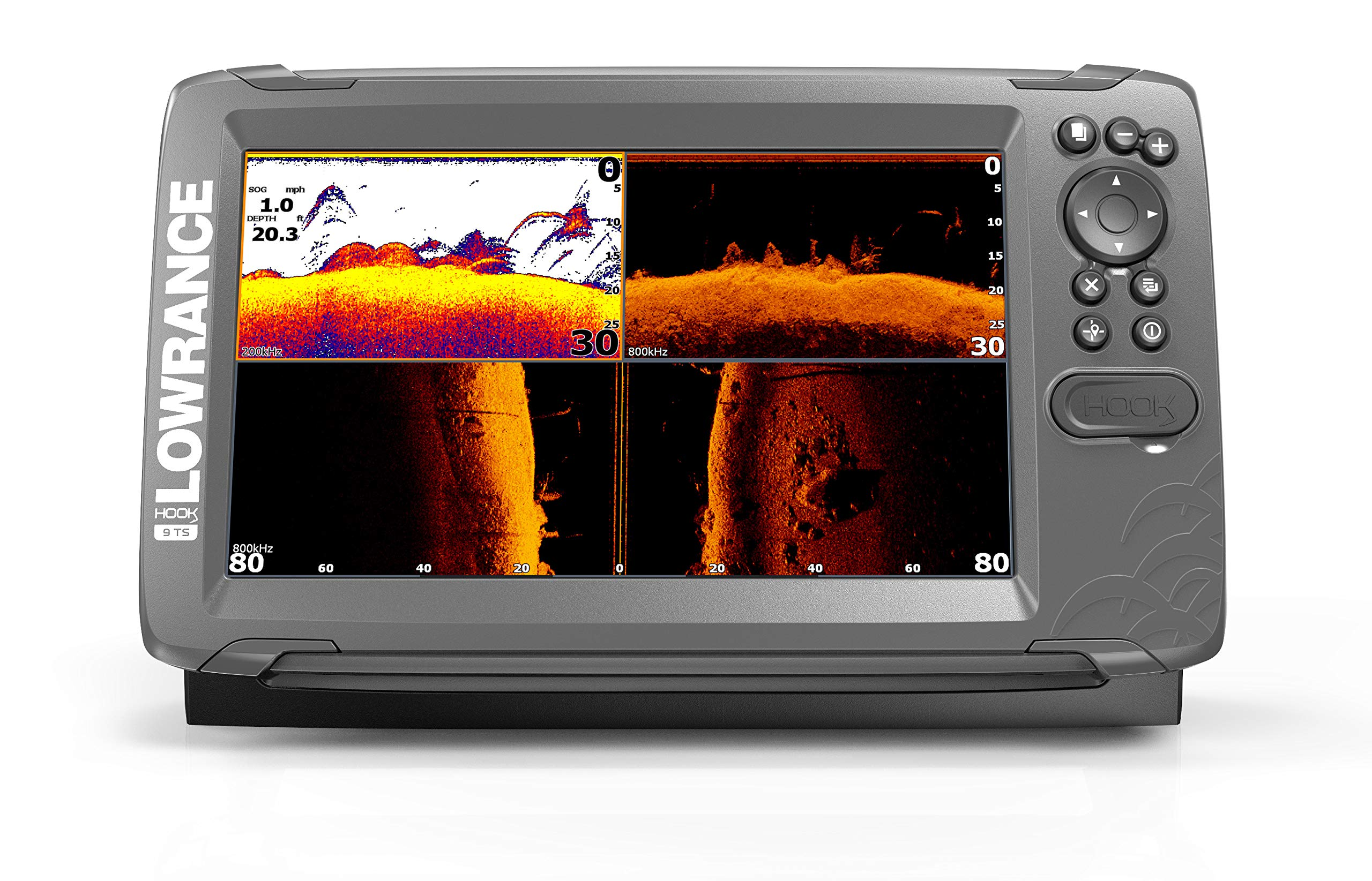 Lowrance HOOK2 9 - 9-inch Fish Finder with TripleShot Transducer and US / Canada Navionics+ Map Card … by Lowrance (Image #1)