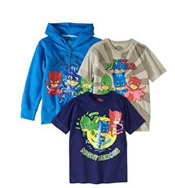 PJ Masks Boy 3 PC Hoodie and T Shirts Set Size 5/6