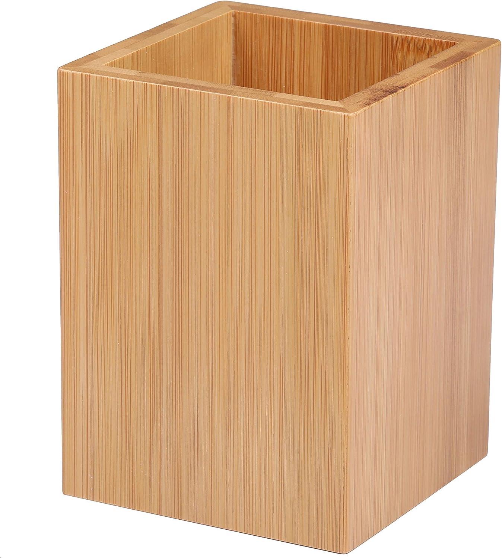 I-MART Wood Pen Holder, Pencil Holder, Cup, Stand for Desktop, Desk Organizer, Office Organizer