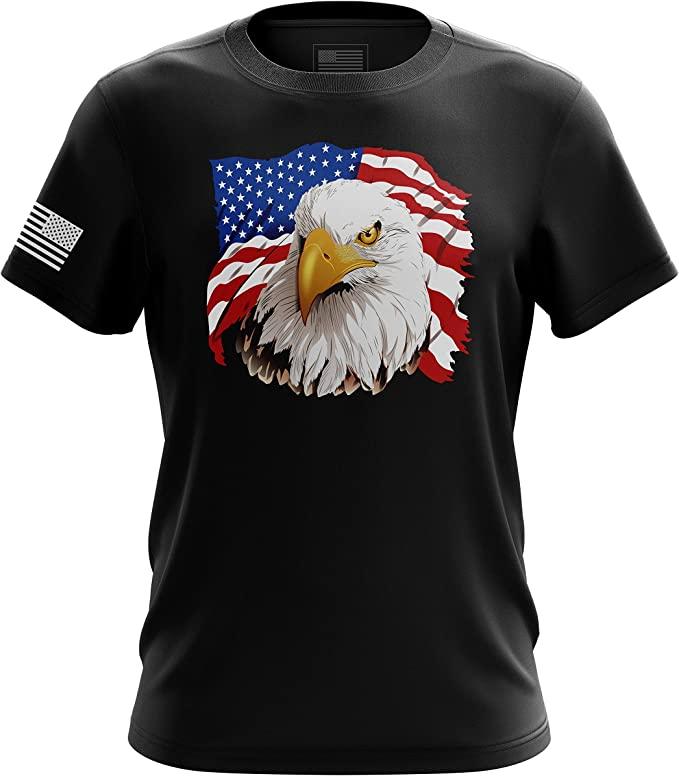 Air Force Veteran Pride Wings And Flag Graphic Short Long Sleeve White T Shirt