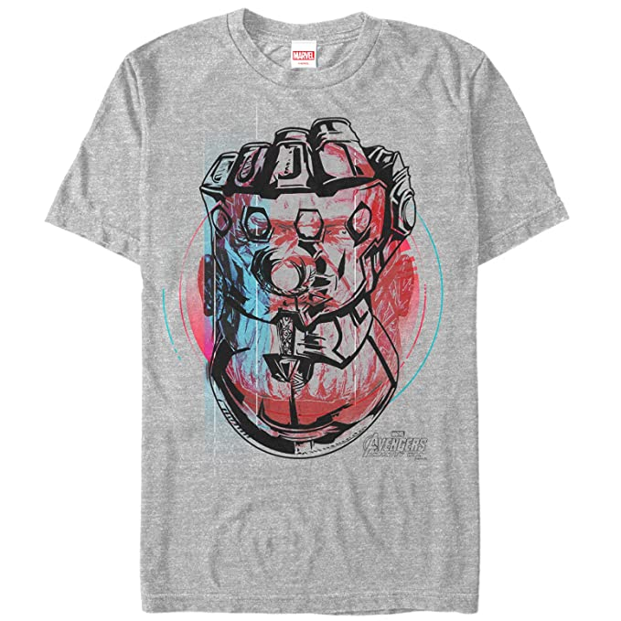37803a934 Marvel Men's Avengers: Infinity War Thanos Gauntlet Fist Athletic Heather  T-Shirt