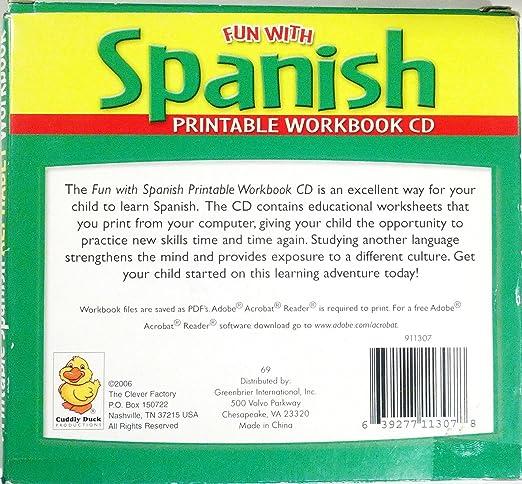 Amazon.com: Fun with Spanish Alphabet Printable Workbook Cd