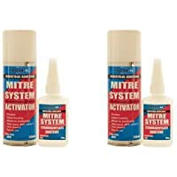 2 x Bond It Joiners Mitre Mate Two Part Instant Bond Glue Wood MDF Adhesive