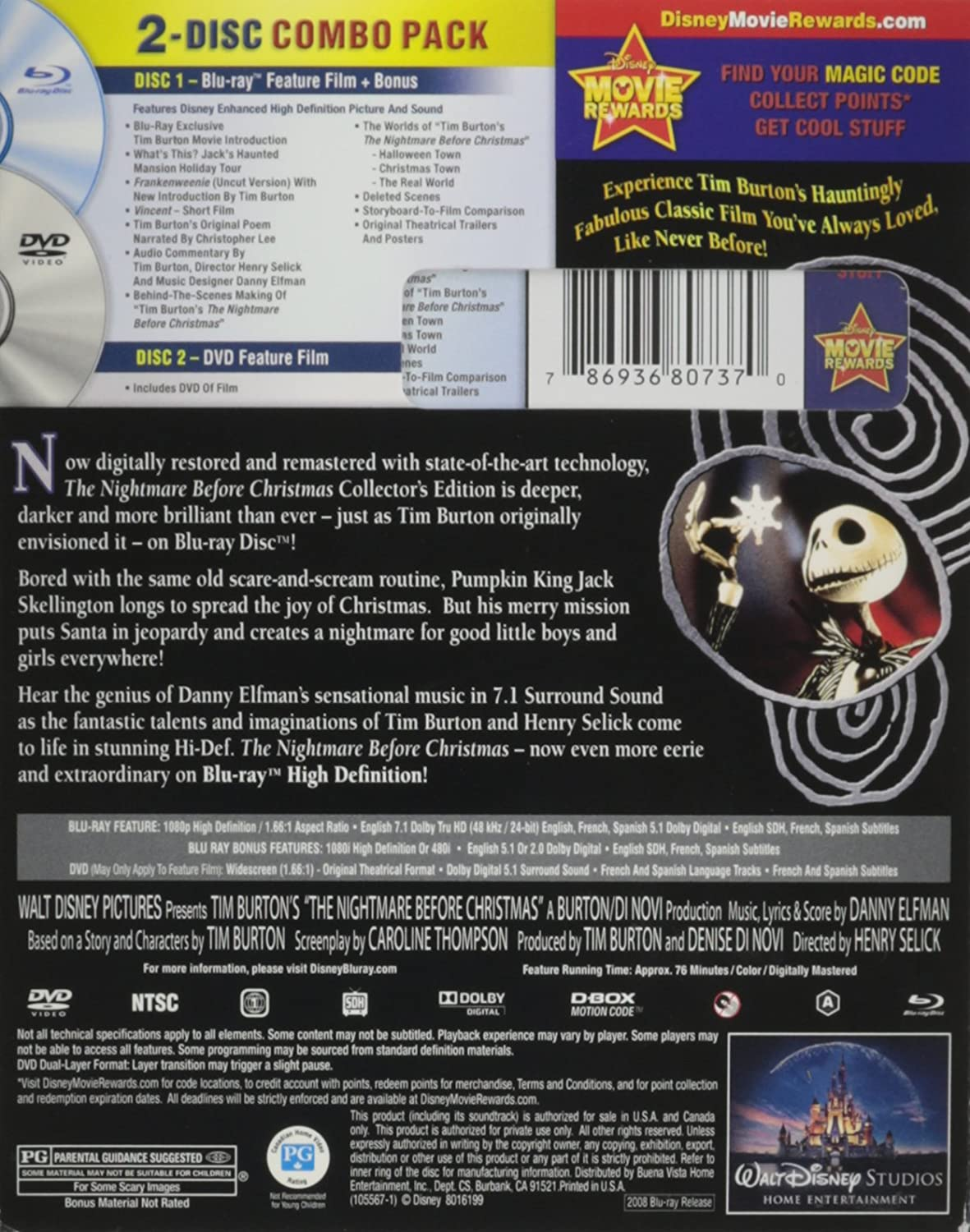 The Nightmare Before Christmas Collector's Edition Blu-ray + DVD ...