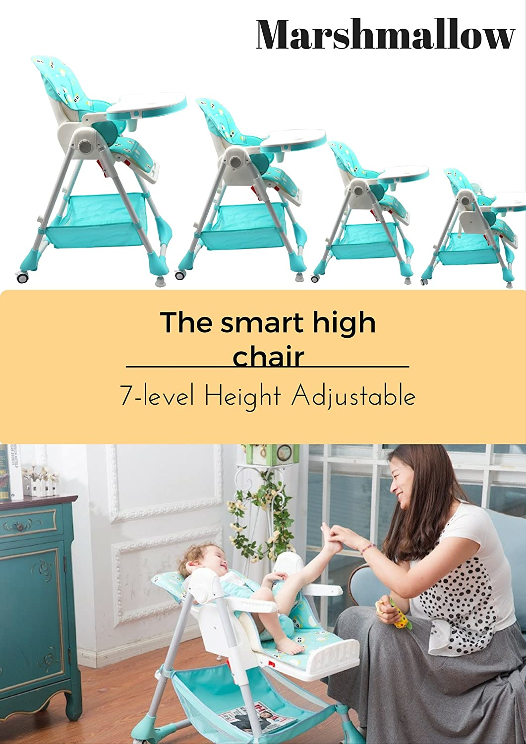 Buy R For Rabbit Marshmallow The Smart High Chair (Green) Online At Low  Prices In India   Amazon.in