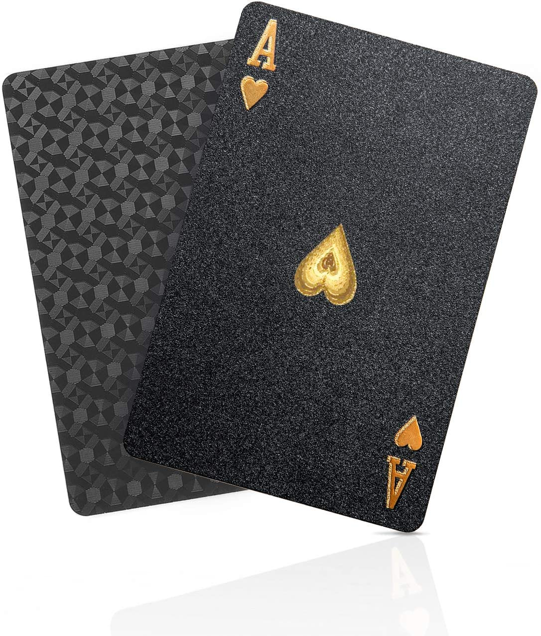 SolarMatrix Black Diamond Waterproof Playing Cards Novelty (HD,1 Deck of Cards, Poker Cards Deck)