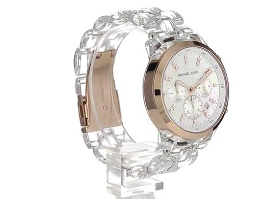 Amazon.com: Michael Kors Womens MK5394 Showstopper Chronograph Clear Watch: Michael Kors: Watches