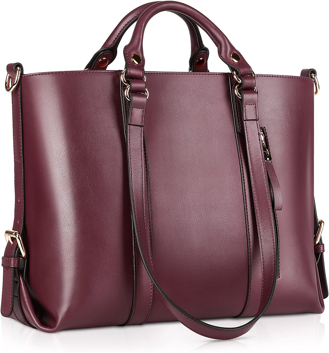 Kattee Women's Genuine Leather Handbags for Women, Tote Bags and Cross-body Purses