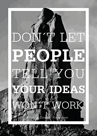 Startup Poster U0026quot;Donu0027t Let Peopleu0026quot; Motivation Spruch Office 59,5
