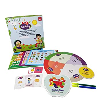 Buy Toiing Nutrivity Kids Healthy Foods Fitness Play Learning Kit 4 Games With Activity Booklet Educational Birthday Gift For Toddlers And 3 5 Year Old Kids Online