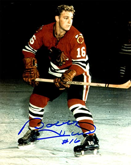 27152f332 Image Unavailable. Image not available for. Color  Bobby Hull Signed  Chicago Blackhawks ...