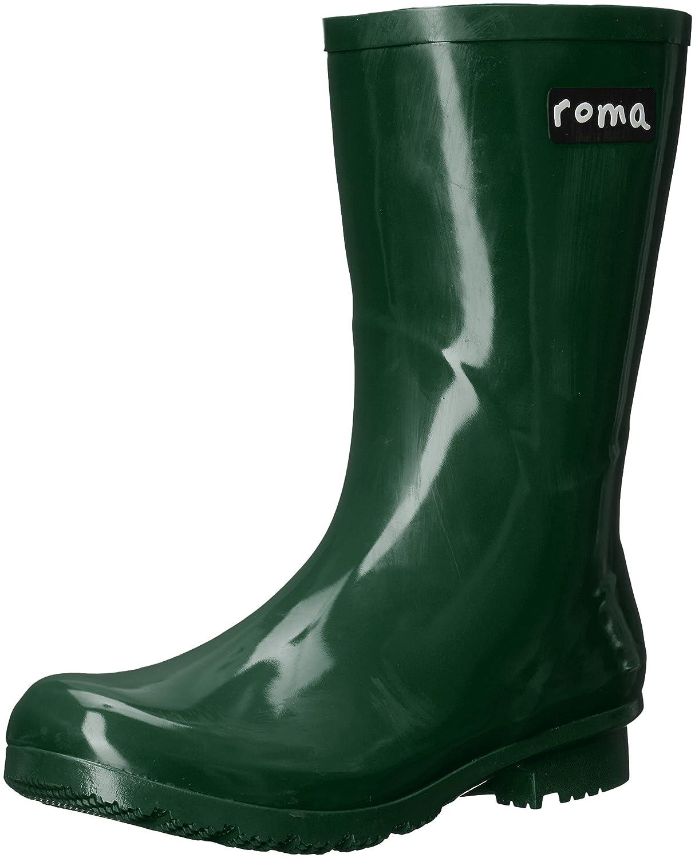 Roma Boots Women's Emma Mid Rain Boots B01L2WOFY6 5 B(M) US|Green