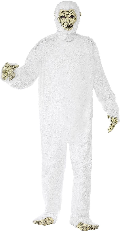 Smiffys - Disfraz de Yeti con máscara, pies y manos de mono, color blanco (23678M): Amazon.es: Juguetes y juegos