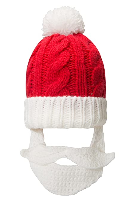 Mountain Warehouse Gorro navideño de Santa para Barba: Tejido Suave ...
