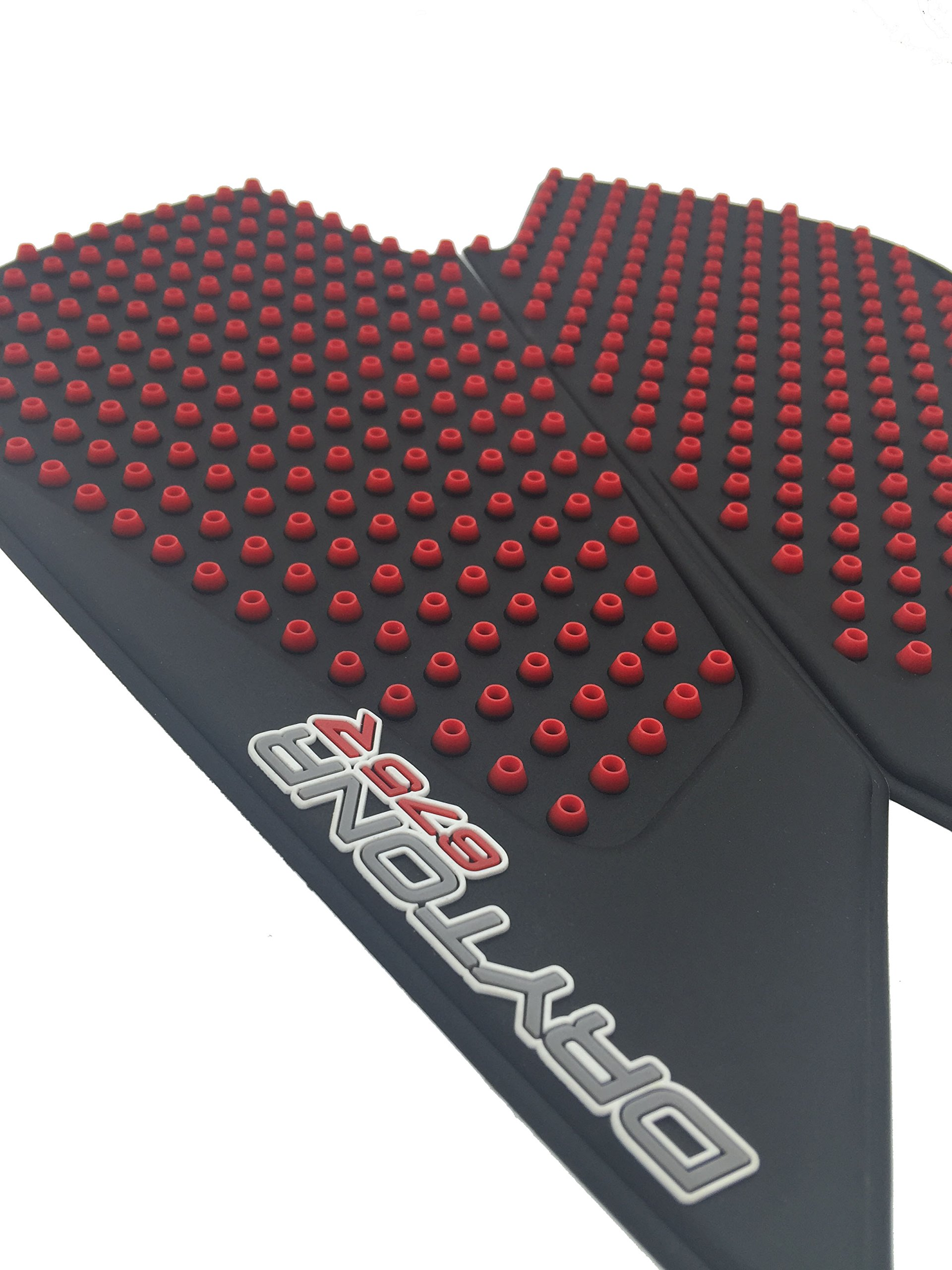 3D Red Dots Gas Fuel Tank Traction Pad Anti Side Slip Protector For Triumph DayTonr 675R 11-16 by primitive man (Image #2)