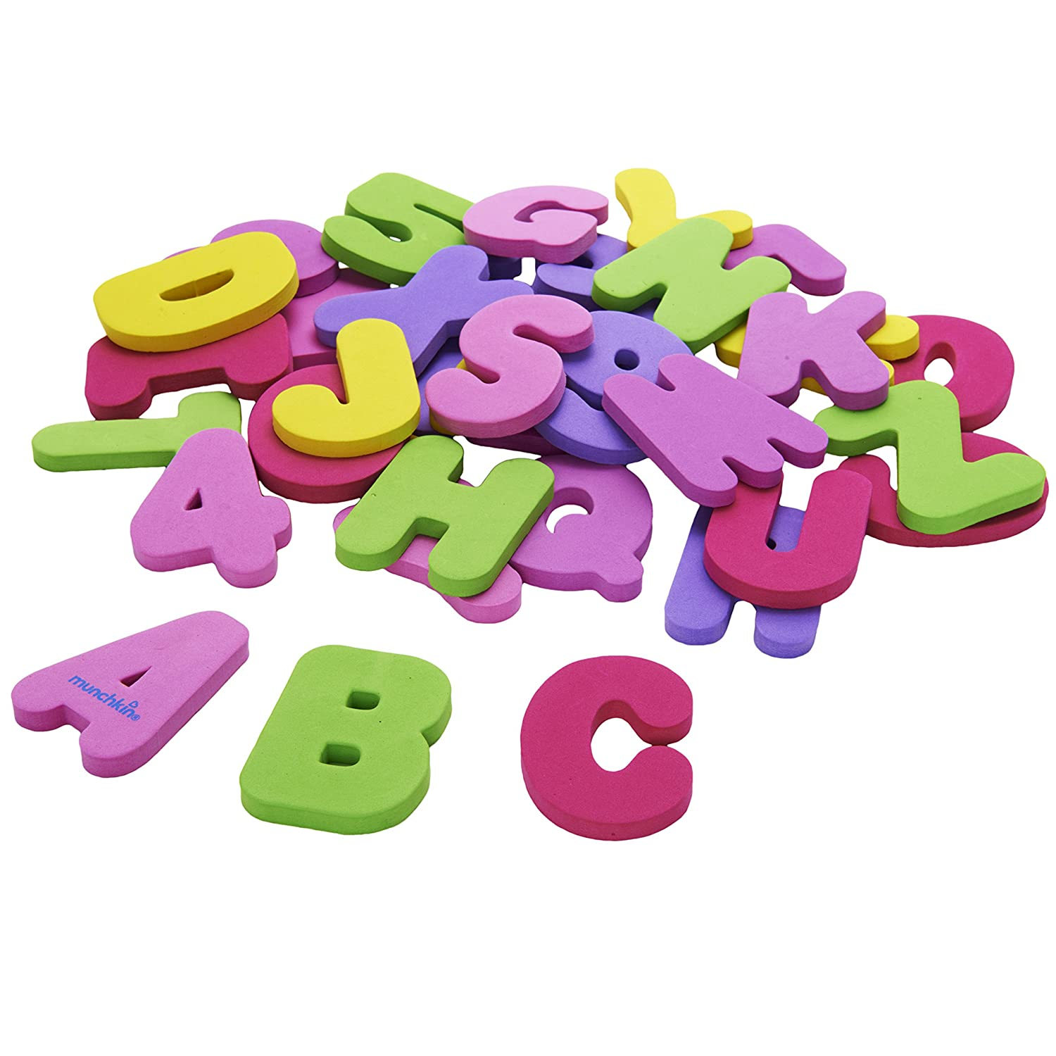 Amazon.com : Munchkin 36 Bath Letters and Numbers, Pastel : Bathtub ...