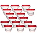Rubbermaid TakeAlongs Twist and Seal Food Storage Containers, 1.2-Cup, Clear, Set of 4 (4-Pack of 4)
