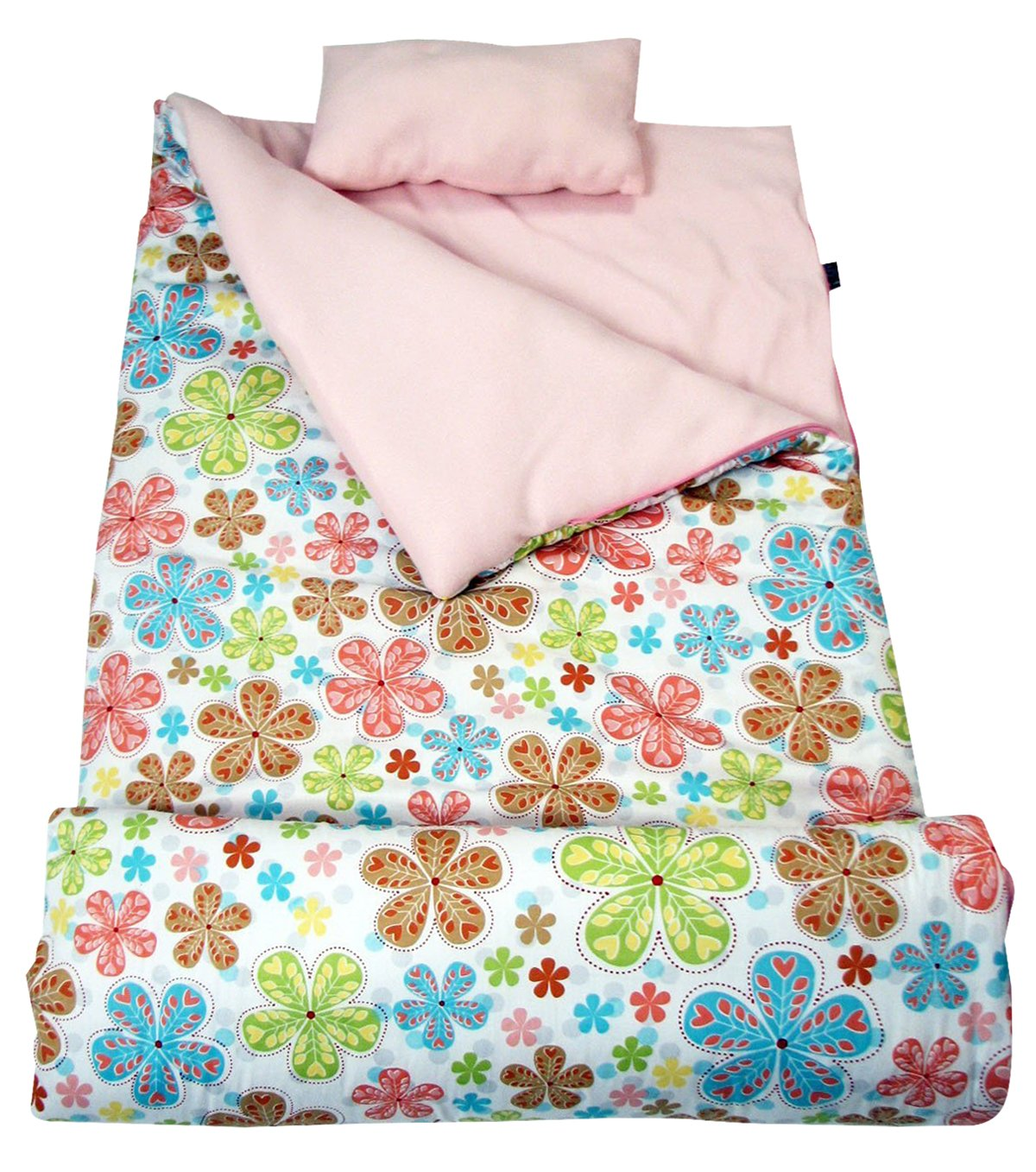SoHo Kids Autumn's Graden Children Sleeping Slumber Bag with Pillow and Carrying case Lightweight Foldable for Sleep Over