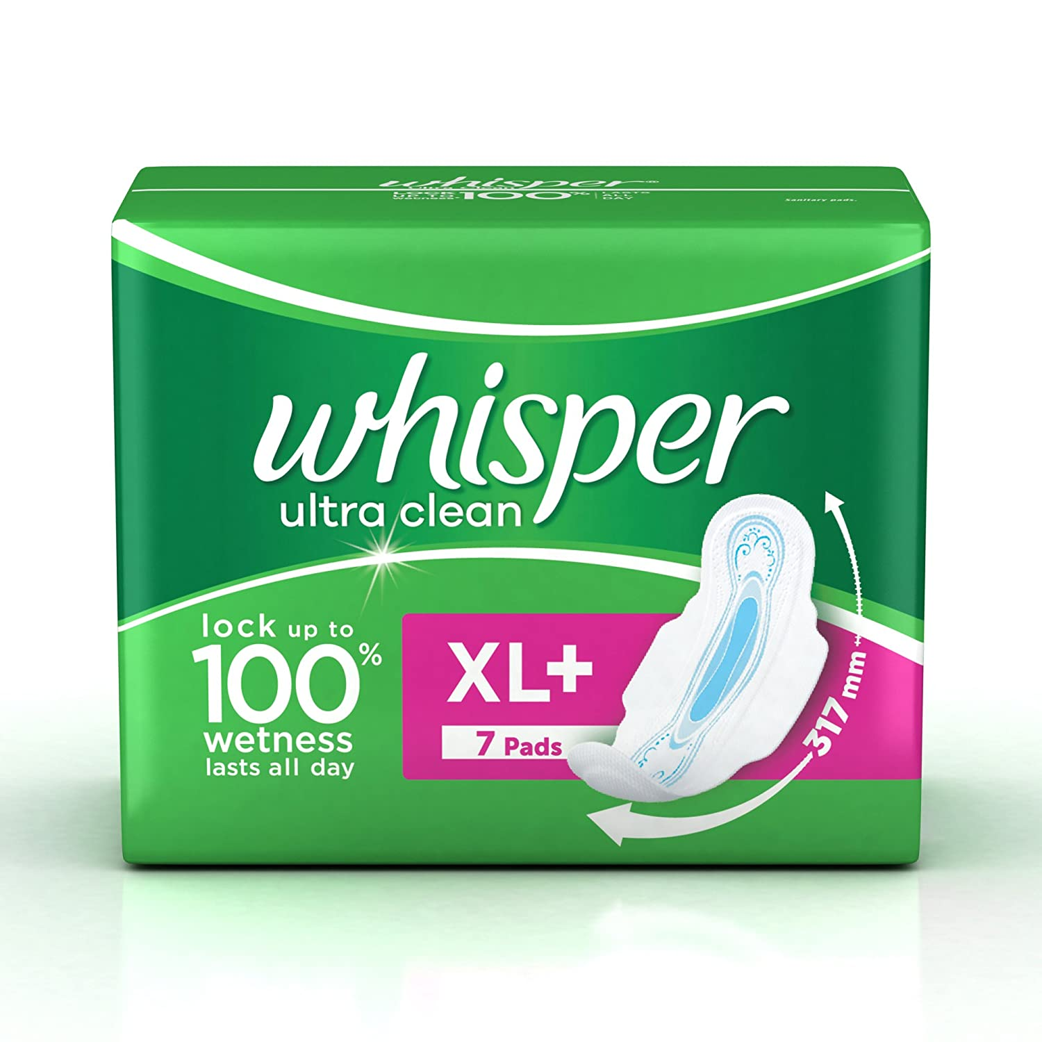 Buy Whisper Ultra Sanitary Pads XL Plus wings (7 Count) Online at ...