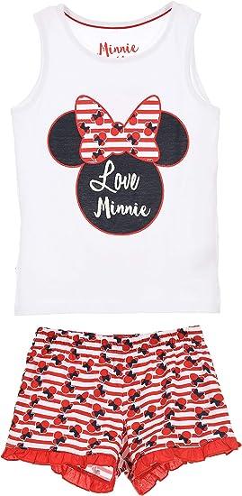 Minnie Mouse Damen Kurz Pyjama Schlafanzug
