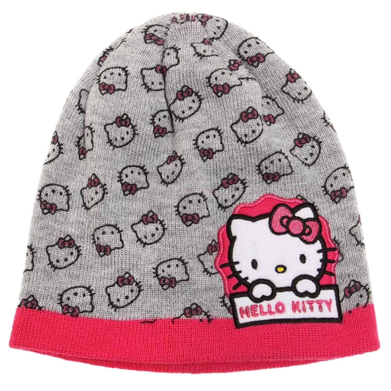 Hello Kitty Chicas Gorro de lana - Gris