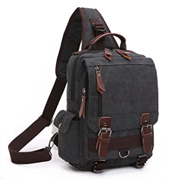 BAOSHA XB-14 Canvas Men Sling Backpack Bag Cross Body Messenger ...