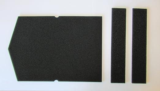 Filter set für miele schwammfilter