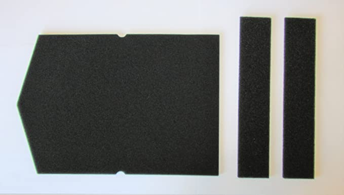 Juego de filtros para Miele, filtro de esponja 6057930 y 9688381, para secadora de