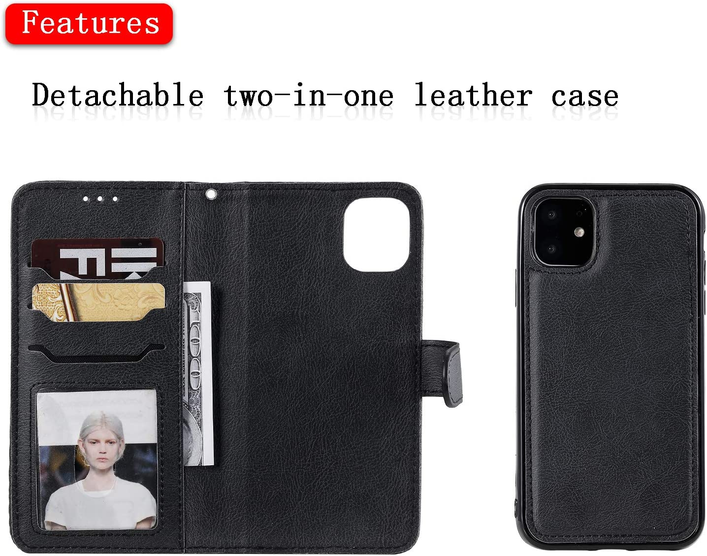 Lomogo Funda Cartera iPhone 11 Funda de Cuero con Tapa Ranuras Tarjetas Soporte Plegable Antigolpes Carcasa Case para Apple iPhone 11 2019 LOKTU110155 Azul