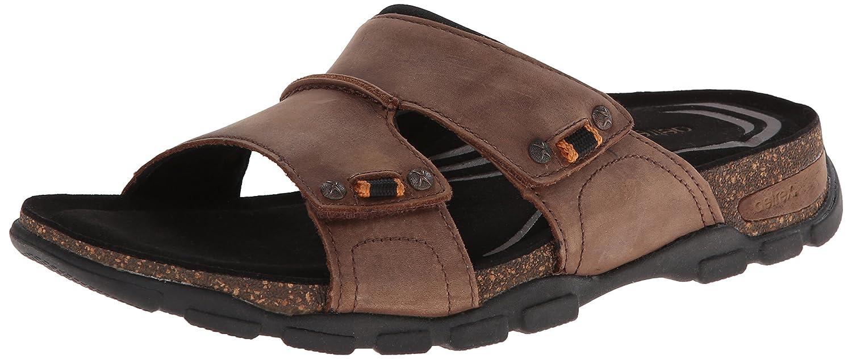Aetrex Men's Ventura Adjustable Double Strap Slide Sandals