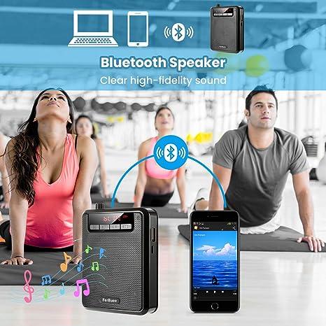 FerBuee Headset Microphone Voice Amplifier Mini Portable Bluetooth ...