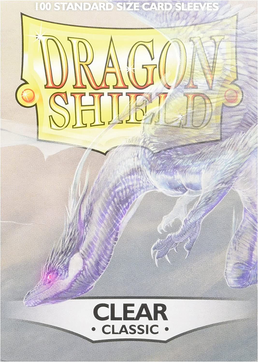 Dragon Shields AT-10001 Protective Sleeves (100-Pack), Clear: Toys & Games