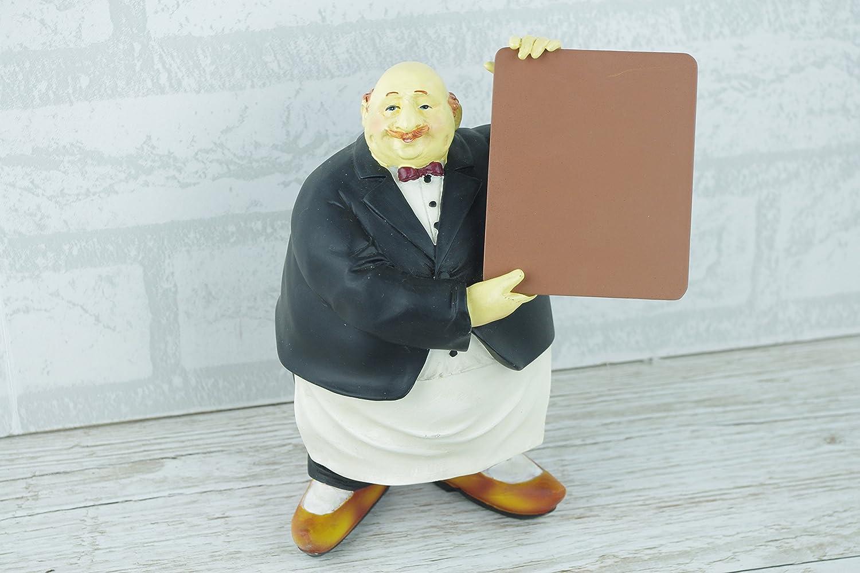 Waiter Statue Figurine Home Decor Kitchen Ornaments Humour Plaque ...