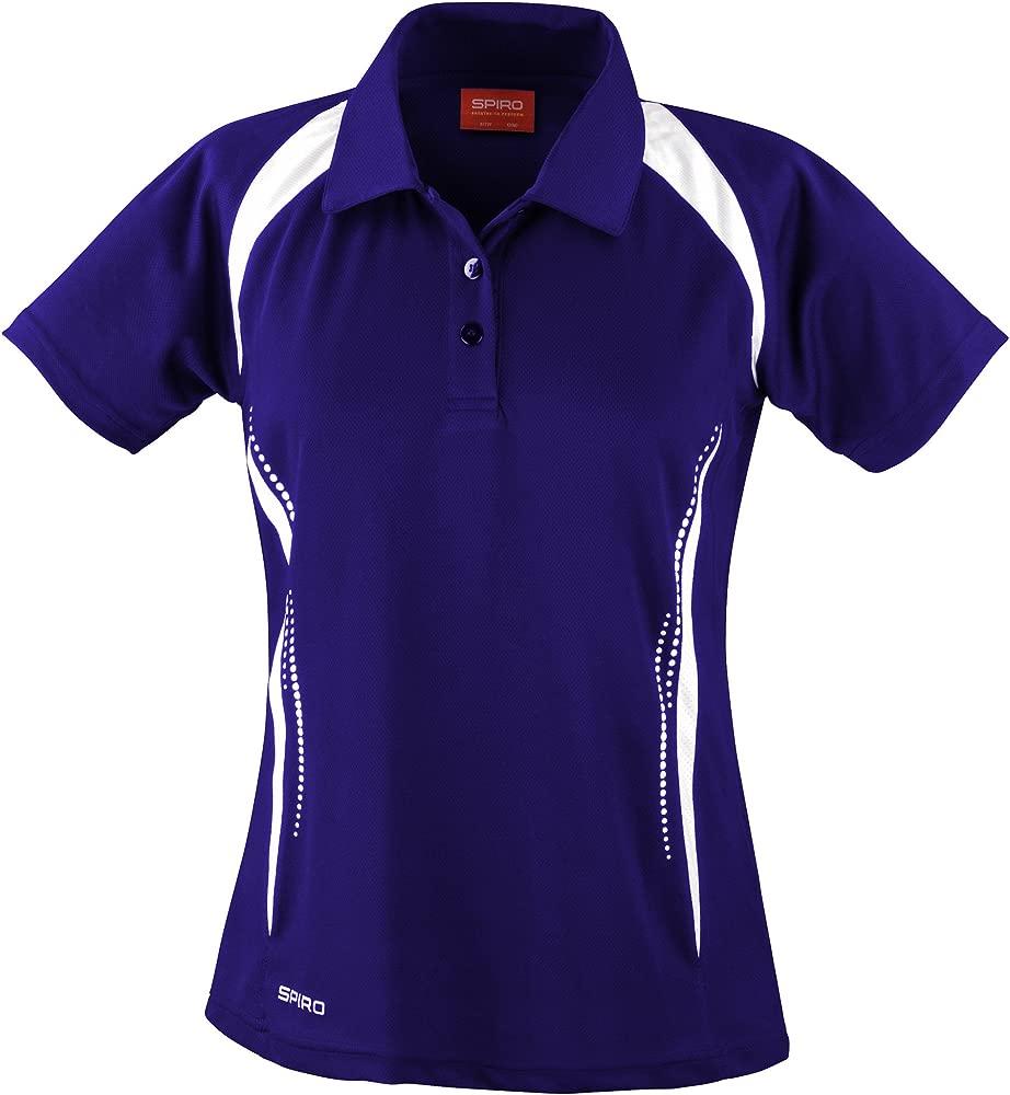 Spiro- Polo para deportes de equipo para mujer (XS/Azul marino ...