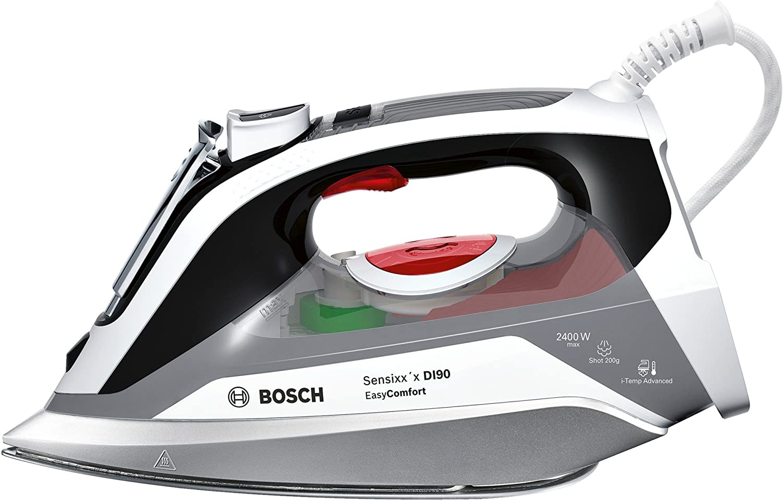 Bosch Sensixx'x DI90 EasyComfort TDI90EASY Plancha de inyección, 0.4 litros de depósito de agua, 2400 W, Gris y Negro