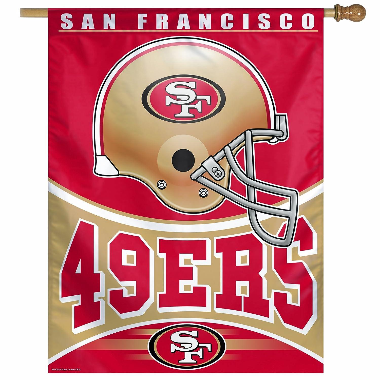 NFL San Francisco 49ers 27 by 37-inch垂直フラグ   B009M18TR4, あっお勧め!素敵生活のナイスデイ e93acf79